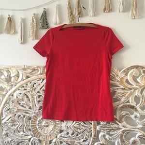 Kate Spade Red Slip Neck Tee